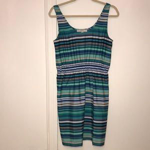 Ann Taylor LOFT multicolored stripe dress